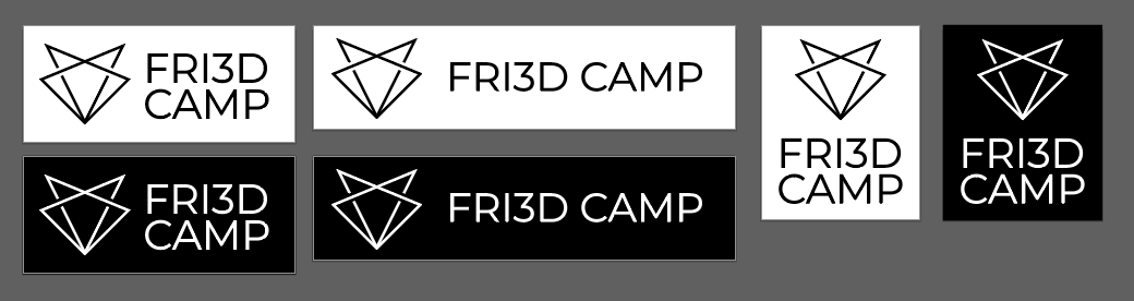 Fri3d Camp logo in zwart-wit